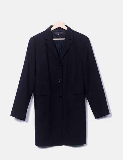 Blazer noir à long Zara