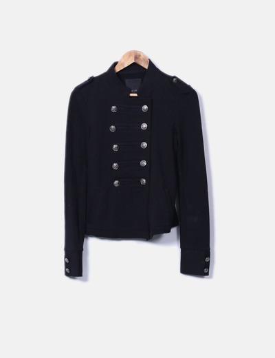 Blazer negra doble botonadura Amisu
