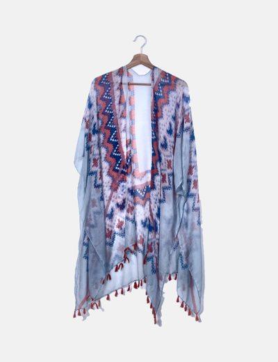 Kimono étnico azul