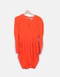 Vestido midi naranja Asos