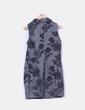 Vestido gris jaspeado estampado floral Fórmula Joven