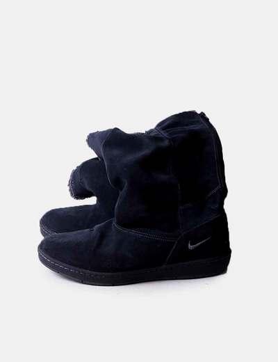 Chausson sombre avec moutons gris Nike