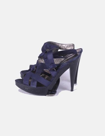 Sandalias tiras azul marino Zara