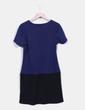 Vestido bicolor combinado Ada Gatti