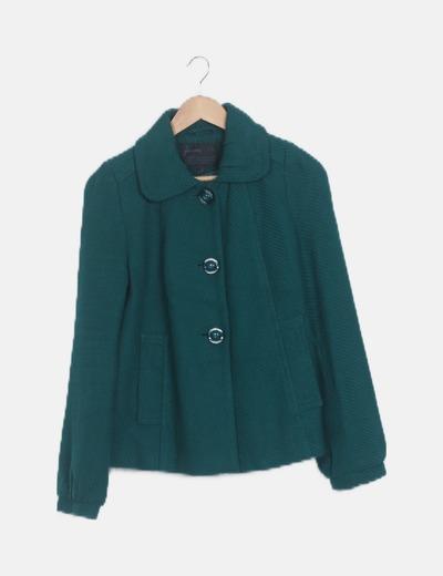 Trenca verde bolsillos manga larga