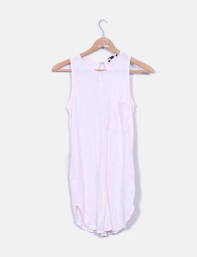T-shirt rose long emmanchure à manches Mexx