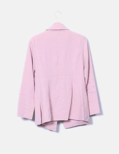 Blazer rosa botones perla