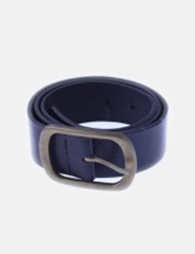 Cinturón polipiel negro