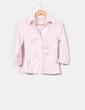 Camisa de rayas blanca y rosa pastel Zara