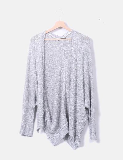 Cardigan tricot jaspeado
