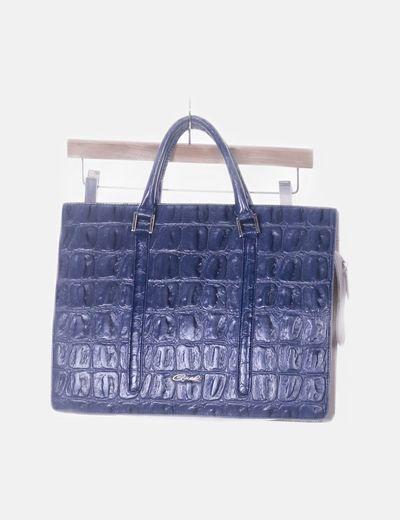 Bolso azul texturizado