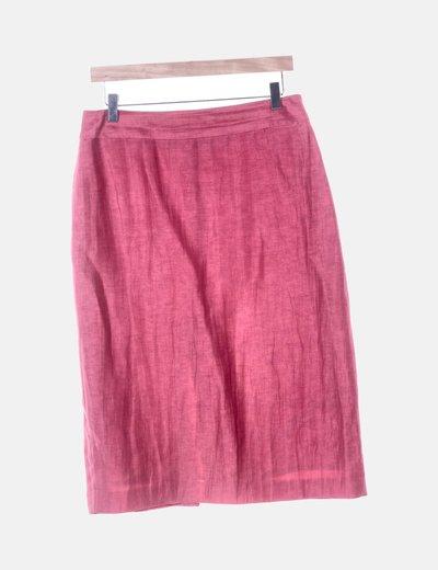 Falda rosa irisada