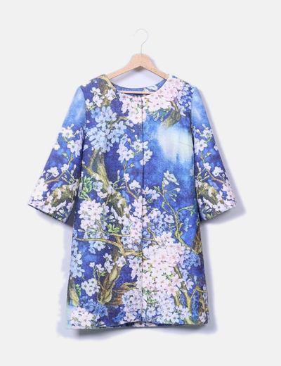 Abrigo floral texturizado NoName