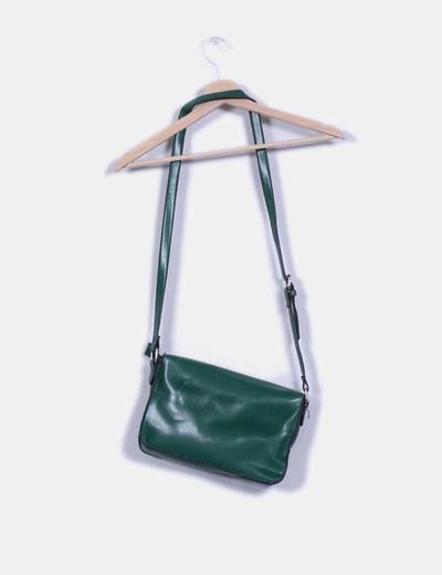 Bolso verde rectangular