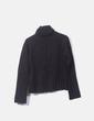 Jersey tricot negro cuello vuelto Stradivarius
