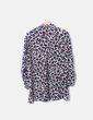 Camisa gris animal print Zara