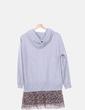 Vestido gris combinado animal print Zara