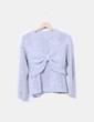 Jersey tricot gris lazo perlas Más cosas