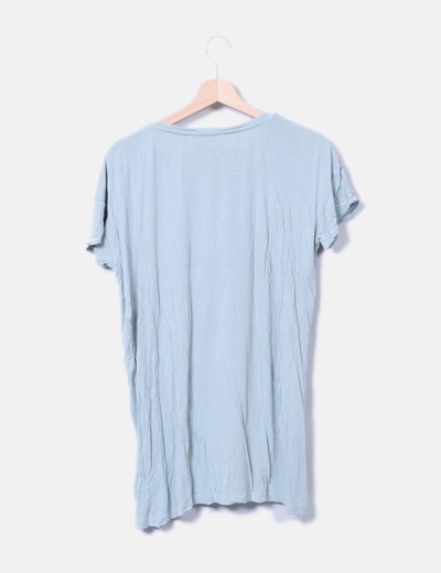 Camiseta verde clara manga corta