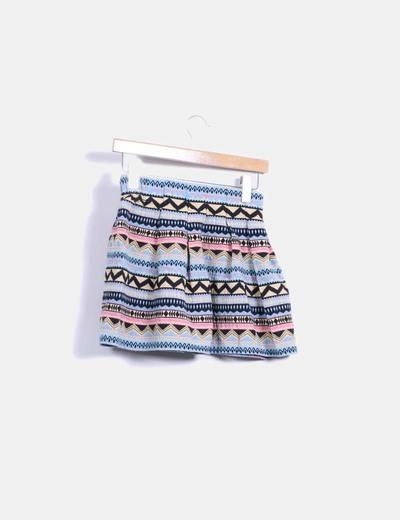 Minifalda estampado etnico