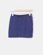 Mini falda azul marino texturizada elástica Atmosphere