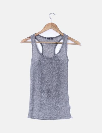 Camiseta canale gris glitter