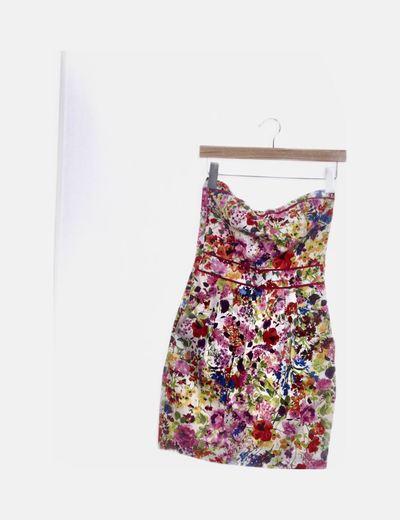 Vestido mini floral