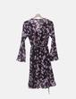 Vestido negro floral detalles plisados New Collection