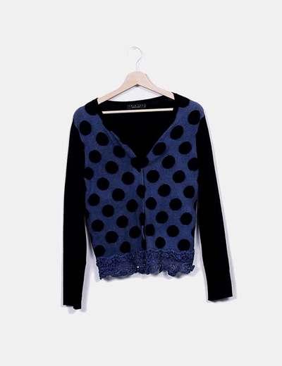 Cardigans multi-couleurs deux tricot Simona Barbieri