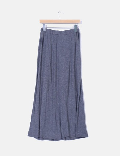 Maxi falda gris