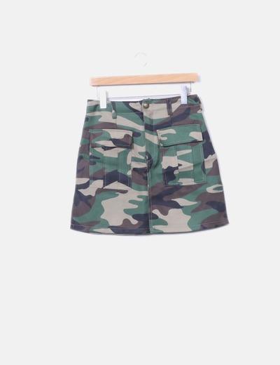 Falda estampado militar