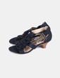 Sandales noir à froufrous Chika10