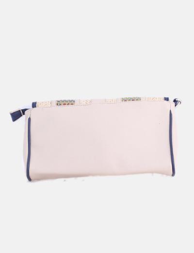 venta caliente online b0fdb c87a5 Bolso de mano beige combinado