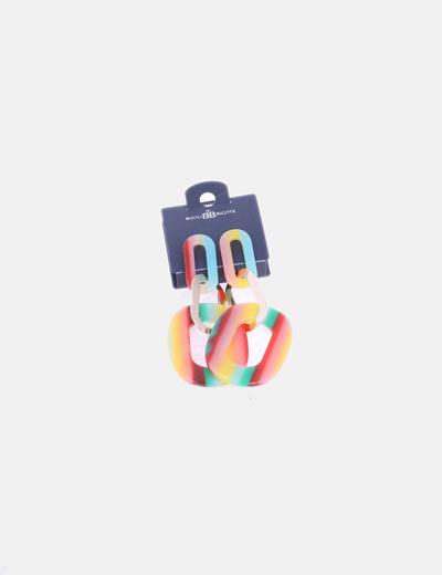 Pendientes aros multicolor