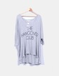 Camiseta oversize gris print 'The hangover club' Wildfox