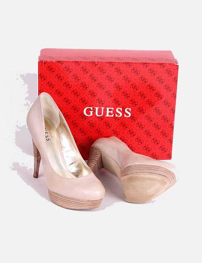 Guess 96 Tacón descuento Micolet Madera Zapato Beige q64wxrPq