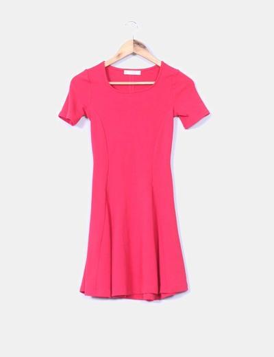 Vestido rojo texturizado  Pull&Bear