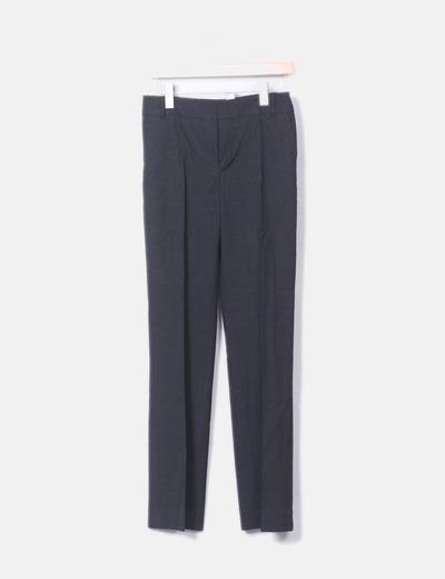 Pantalón de traje gris marengo
