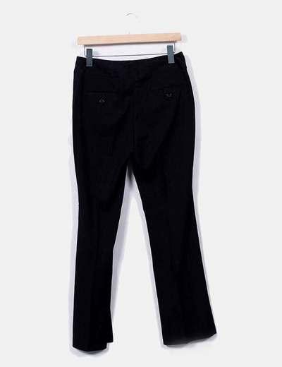 Pantalon negro con rayas