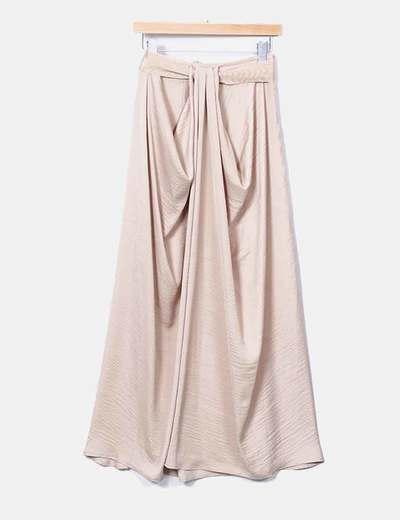 Maxi falda beige