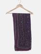 Pañuelo morado estampado Massimo Dutti