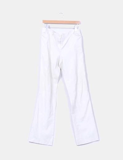 Pantalón beige recto Massimo Dutti