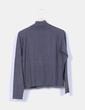 Chaqueta tricot gris con cremallera Chantal Delarra