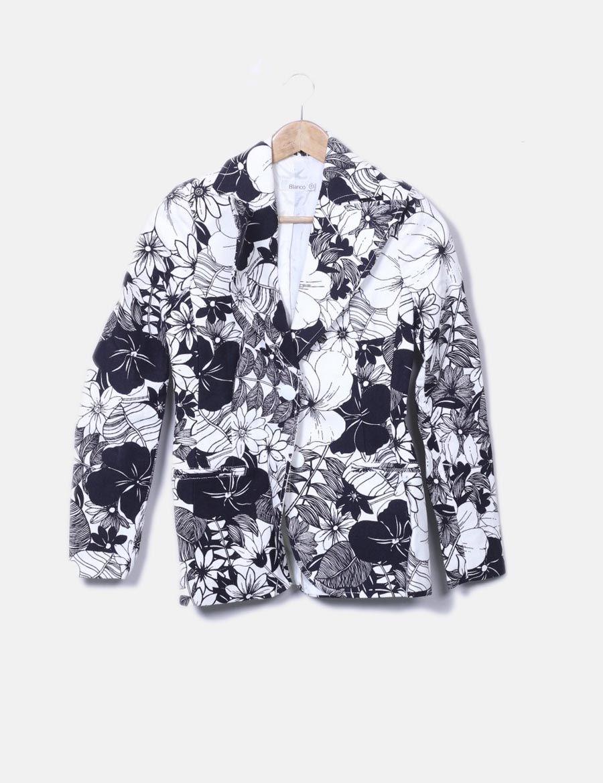 4621c1544ca7 Estampado Floral Y Suiteblanco Online De Bicolor Blazer Abrigos cqwaYESz