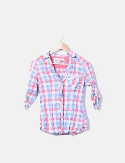 Camisa de cuadros tricolor Stradivarius