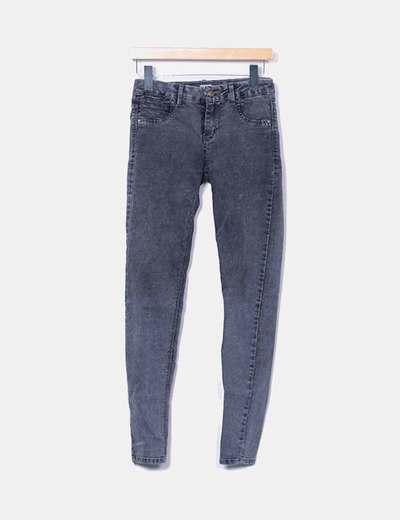 Jeans denim gris jaspeado