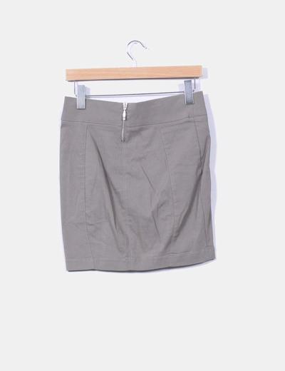 Mini falda caqui ajustada