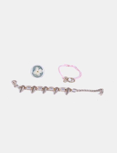 Conjunto de pulseras y anillo NoName