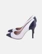 Zapato tacón negro y blanco Zara