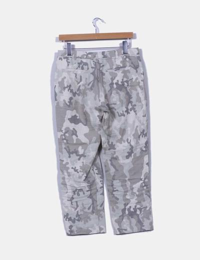 Pantalon camuflaje de lino